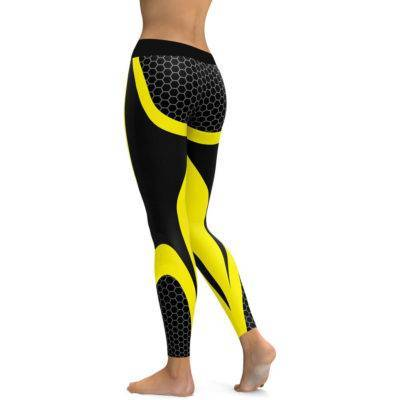 Honeycomb Carbon Fitness Leggings for Women Womens Clothing Leggings