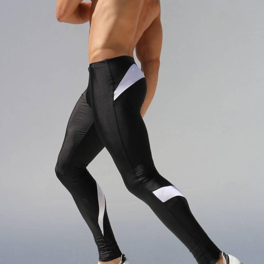 Skinny Sports Gym Leggings for Men Mens Clothing Leggings