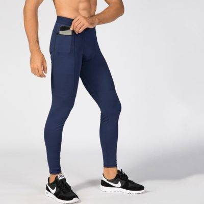 Elastic Training Pants with Pocket for Men Mens Clothing Leggings