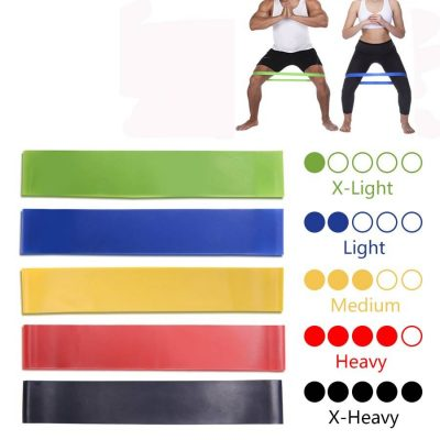 Yoga Resistance Rubber Workout Bands Womens Accessories Mens Accessories