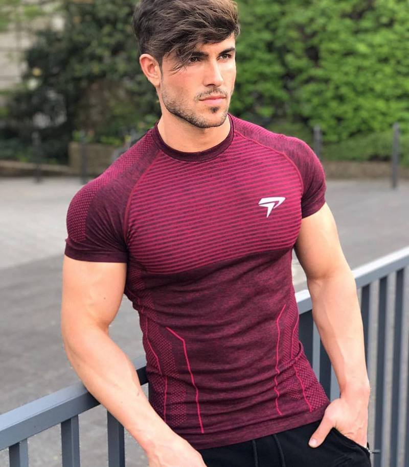 Tight Compression T-shirt for Men Mens Clothing Tops & T-shirts
