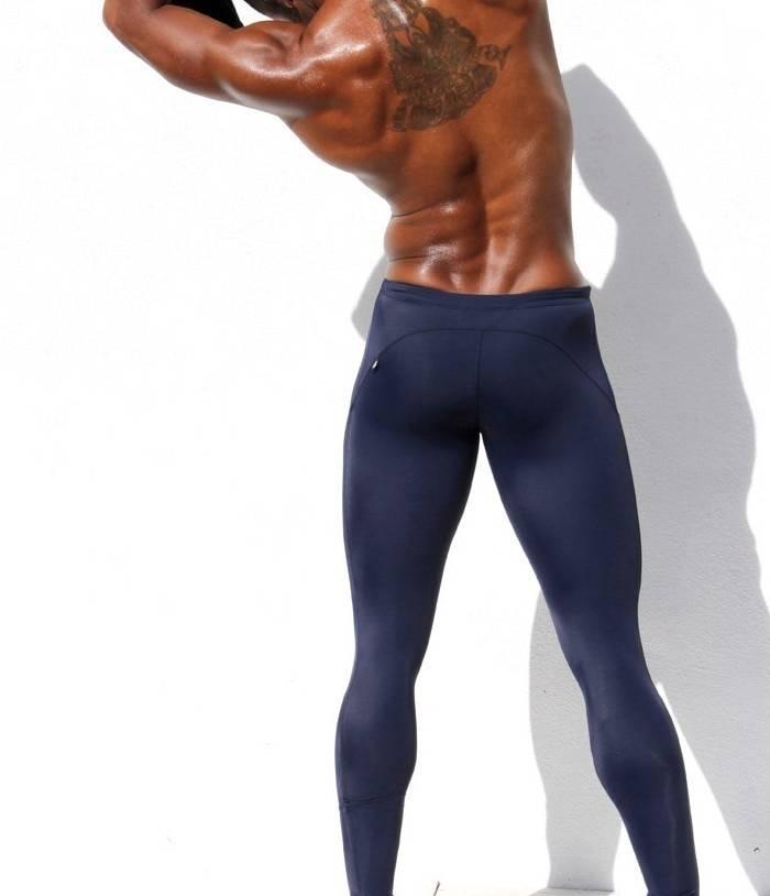 Low-Waist Elastic Elastic Leggings for Men Mens Clothing Leggings
