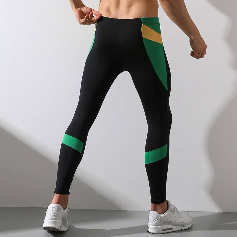 Athletics Workout Fitness Leggings for Men Mens Clothing Leggings