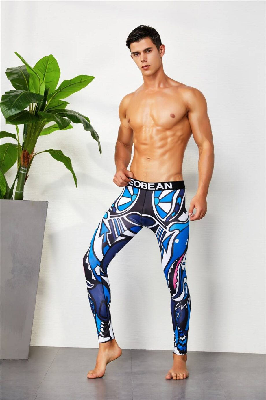 Colorful Running Compression Tights for Men Mens Clothing Leggings