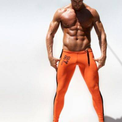 Low-Waist Elastic Elastic Leggings for Men Mens Clothing Leggings