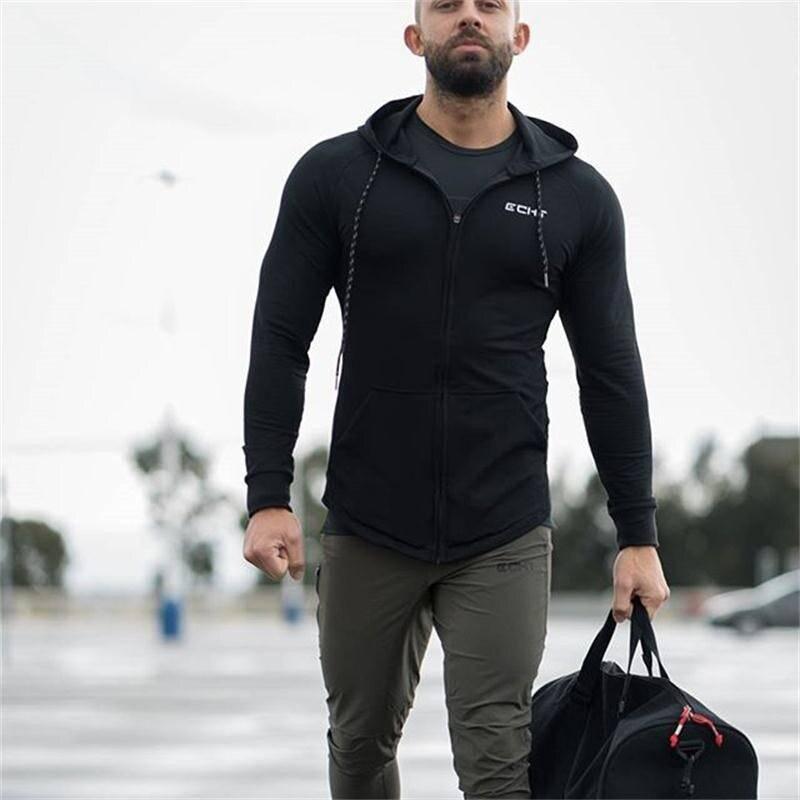 Casual Bodybuilding Hoodie for Men Mens Clothing Hoodies
