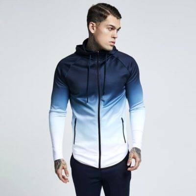 Gradient Hoodie for Men Mens Clothing Jackets & Hoodies