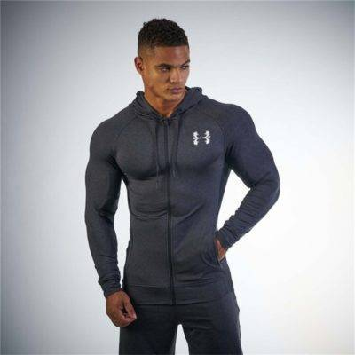 Tight Fitness Hoodie for Men Mens Clothing Hoodies