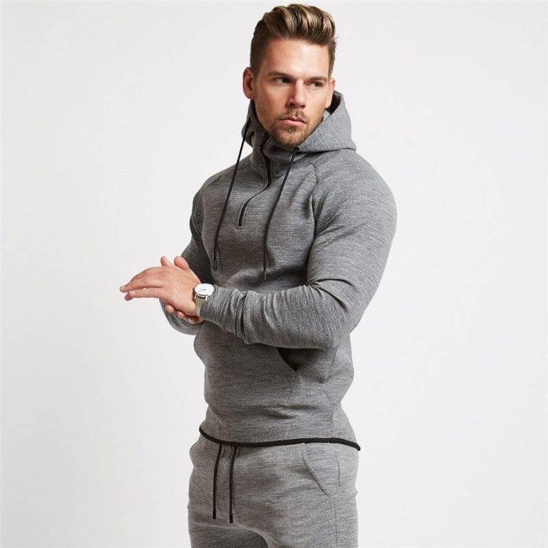 Casual Running Hoodie for Men Mens Clothing Jackets & Hoodies