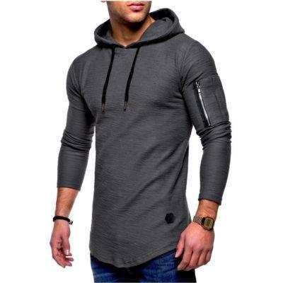 Fitness Hooded Tight Sweatshirt for Men Mens Clothing Hoodies