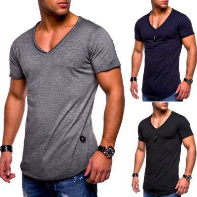V-Neck T-shirt for Men Mens Clothing Tops & T-shirts