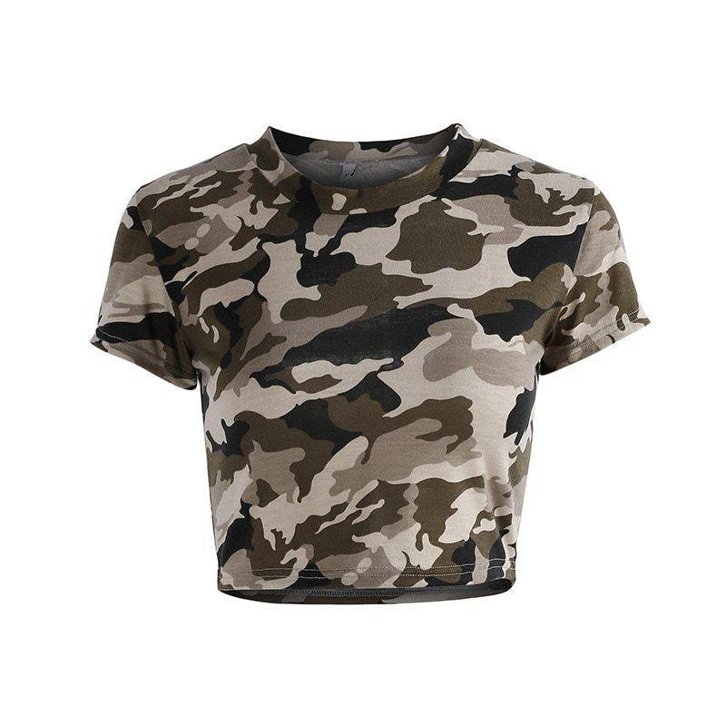 Camouflage Sports Top for Women Womens Clothing Tops