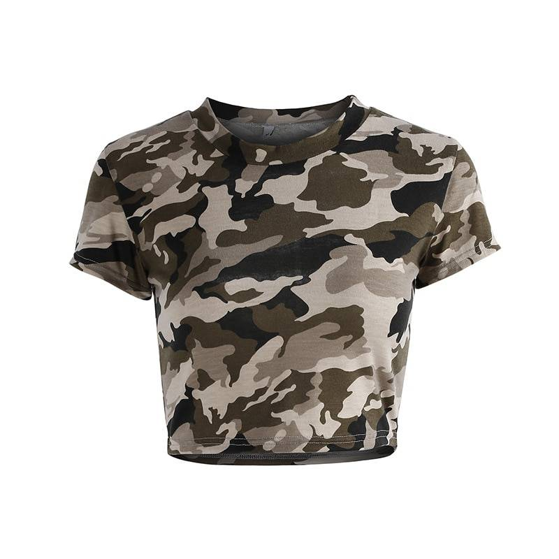 Camouflage Sports Top for Women Womens Clothing Tops & T-shirts