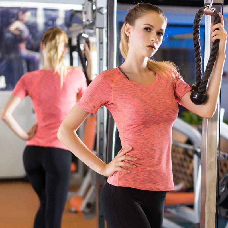 Gym Compression T-Shirt for Women Womens Clothing Tops