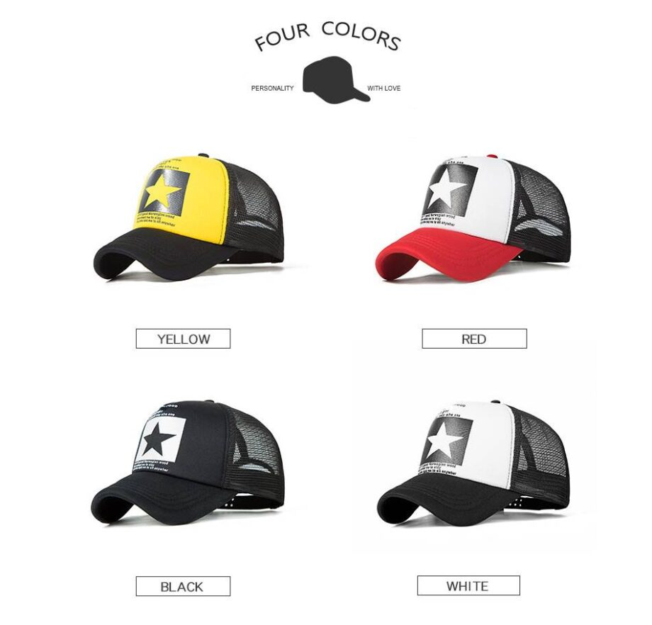Star Sports Hat for Men and Women Womens Hats Mens Hats