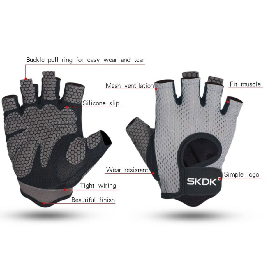 Breathable Sports Gloves Womens Accessories Mens Accessories