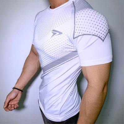 Compression Bodybuilding T-Shirt for Men Mens Clothing Tops