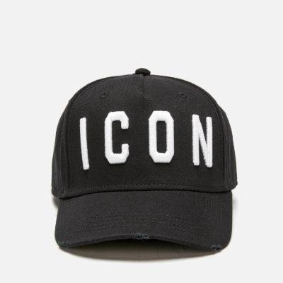 ICON Black Snapback Cap for Men and Women Womens Hats Mens Hats