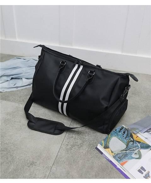 Stirped Waterproof Gym Bag for Men and Women Womens Bags Mens Bags