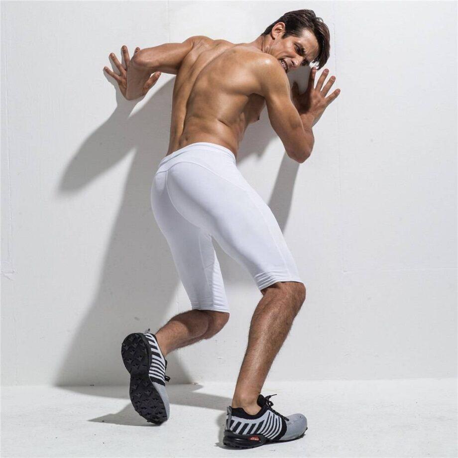 Short Leggings for Men Mens Clothing Leggings