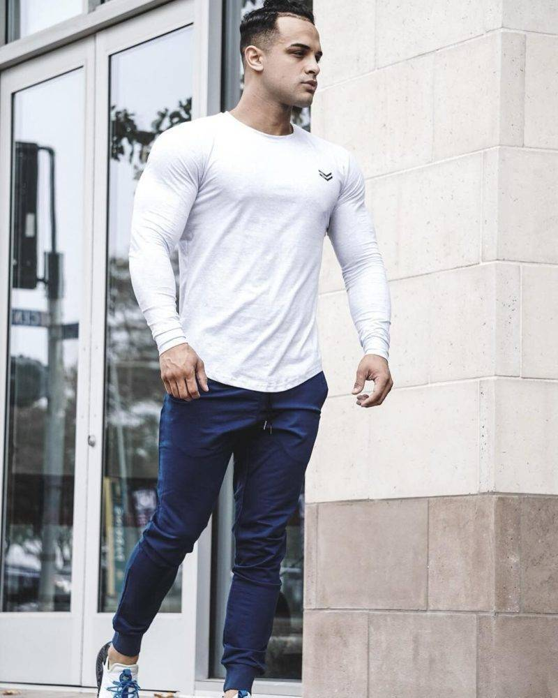 Elastic Workout Shirt for Men Mens Clothing Tops & T-shirts
