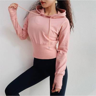 Hooded Gym Top for Women Womens Clothing Jackets & Hoodies