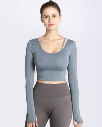 Long Sleeve Yoga & Sports Shirt for Women Mens Clothing Tops & T-shirts